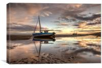 September sunrise at Meols, Canvas Print