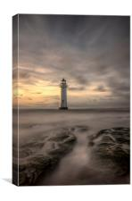 A portrait of Perch Rock lighthouse, Canvas Print