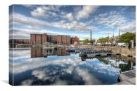 Albert Dock reflections, Canvas Print