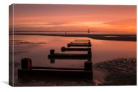 Crosby beach sunset, Canvas Print
