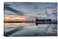 New Brighton reflectons, Canvas Print