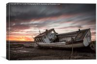 Sunset at Sheldrakes, Canvas Print