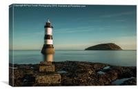 Penmon lighthouse and Puffin Island , Canvas Print