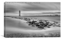 High tide at Perch Rock lighthouse in New Brighton, Canvas Print