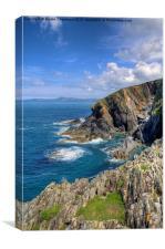 Porthgain Coastline, Canvas Print
