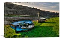 Boat and Footpath Sign, Canvas Print