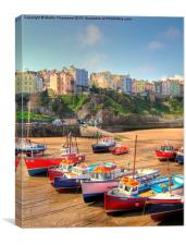 Fishing Boats, Tenby, Canvas Print