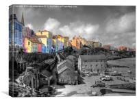 Tenby, The Sailing Club, Canvas Print