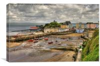 Tenby in April, Canvas Print