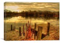 Wintery Lake, Canvas Print