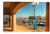 Nelson Quay Milford Haven Marina, Canvas Print