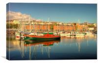Milford Haven Marina, Canvas Print