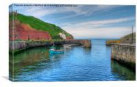 Porthgain Harbour, Pembrokeshire, Canvas Print