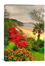 Tenby North Beach to Monkstone Point, Canvas Print