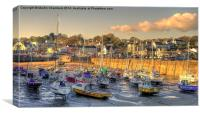 Saundersfoot Harbour, Canvas Print