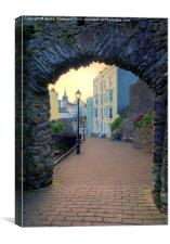 Through the Arch at Dusk, Canvas Print