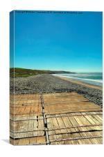 Boardwalk, Newgale Sands, Canvas Print