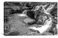 Pistyll Rhaeadr Waterfall, Wales, Canvas Print