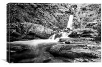 Pistyll Rhaeadr waterfall in the Berwyn Mountains, Canvas Print