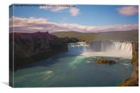 Godafoss Waterfall, Iceland, Canvas Print