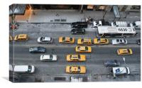 New York taxis, Canvas Print