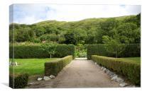 Kylemore Abbey Garden, Canvas Print