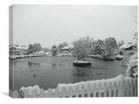 On Frozen Pond!, Canvas Print