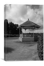 Bandstand, Willen Lake, Canvas Print