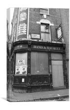 Derelict Pub, London, Canvas Print