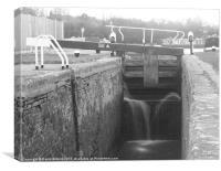 Lock Gates, Grand Union Canal, Canvas Print