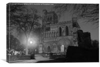 Dunstable Priory, Bedfordshire at Night, Canvas Print