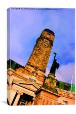 Luton Town Hall & War Memorial, Bedfordshire, Canvas Print