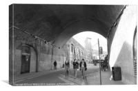 A Stroll under the arches, Canvas Print