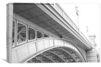 The lines of Southwark Bridge, Canvas Print
