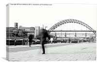 The walk to work, Newcastle, Canvas Print