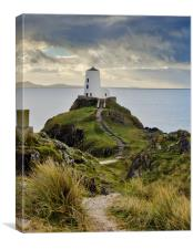 THE OLD LIGHTHOUSE, LLANDDWYN ISLAND, ANGLESEY, Canvas Print