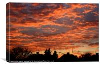 Red Sky at Night..., Canvas Print