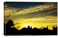 Rooftop Sunset, Canvas Print