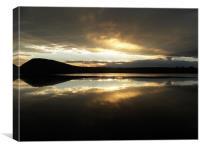 Sunset Lake, Canvas Print