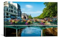 Colourful Bridge at Quimper in Brittany, France, Canvas Print