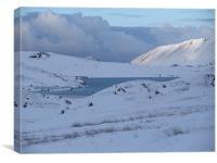 Llyn Idwal in Snow, Canvas Print
