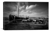 Boats at Pin Mill, Canvas Print