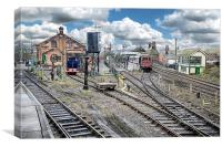 Old Trains at the Old Train station, Canvas Print