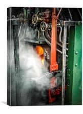 The Steam Train Furnace, Canvas Print