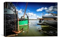 Thames Barges on the Blackwater, Canvas Print