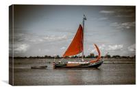 Old Barge on the River Blackwater, Canvas Print