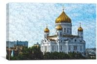 Cathedral of Christ the Saviour, Canvas Print