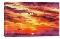 Purple sunset, Canvas Print