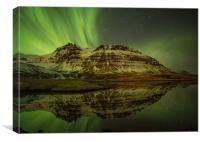 Northern lights near Grundafjordur, Iceland, Canvas Print