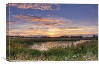 Sundown at Jeskyns, Canvas Print